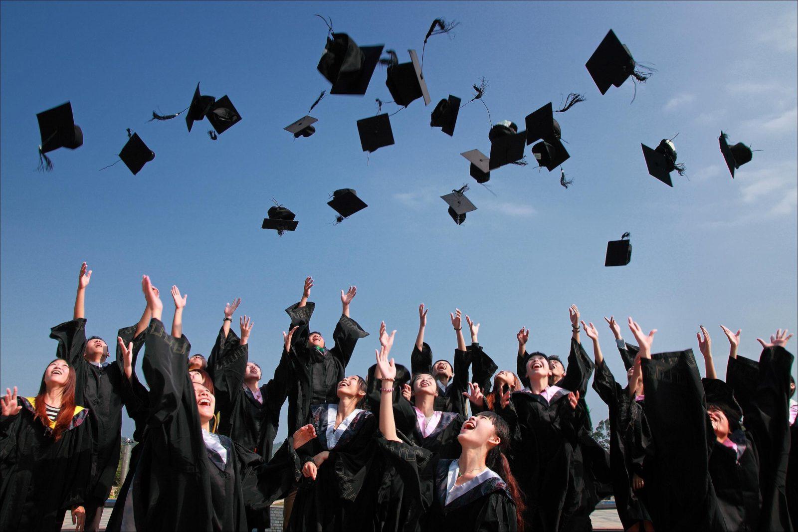 Grads Throw Caps in the Air